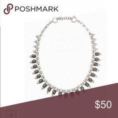 """New Lynx Pearl Necklace by Stella & Dot Elegant glass pearls set on a vintage silver chain with spike detail create a mix of class and edge. Wear alone, pair with your Silver Sutton Necklace, or layer with your favorite delicates for a more modern look.  Vintage silver plating.  17"""" with 2"""" extender.  Spring ring closure. Stella & Dot Jewelry Necklaces"""