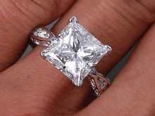 Discover our brilliant Princess Cut diamond over 3 carats! Learn more about this dazzling Lab Grown (Man Made) diamond from BigDiamondsUSA today! Man Made Diamonds, Lab Created Diamonds, Grown Man, 3 Carat, I Love Jewelry, Princess Cut Diamonds, Diamond Engagement Rings, Wedding Rings, Crystals