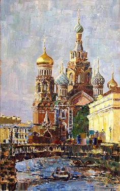 Коллекция работ художника Константина Сухоплюева - views of Saint-Petersburg