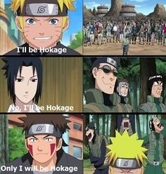 Dammit why does everyone want to become hokage. #naruto #|sasuke #kiba