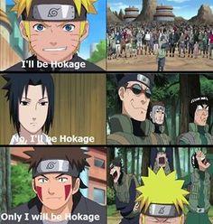 Everybody wants to become Hokage. #naruto #sasuke #kiba