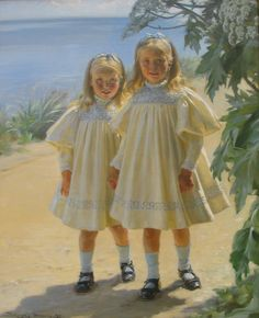 "Peder Severin Krøyer, ""The Benzon daughters"", 1897. [Skagen]"