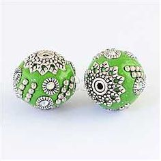 26mm Silver Round Indonesia Beads(IPDL-R353-3)