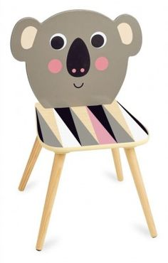 The Vilac Koala Chair is a beautiful wooden seat that features an llustration by artist Ingela P. Contemporary Furniture, Modern Contemporary, Activity Toys, Activities, Drupal, Pre School, Decoration, Playroom, Children