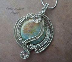 Wire wrapped pendant / Wire Wrapped jewelry by PillarOfSaltStudio