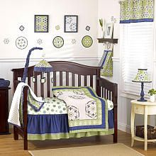 Another blue and green bed set for him - more affordable and with different shapes