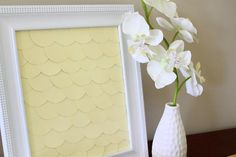 DIY Summer  : DIY Scalloped Paint Chip Art!
