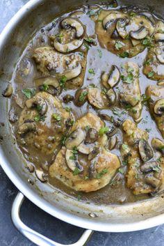 Chicken Marsala ~ https://www.fromvalerieskitchen.com