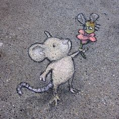 Love it :) David Zinn - street artist chalk