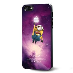 Despicable Me Minion Kevin Catch Glowing Apple in Nebula Samsung Galaxy S3 S4 S5 Case Samsung Galaxy Note 3 Case iPhone 4 4S 5 5S 5C Case Ipod Touch 4 5 Case