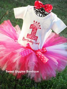 Pinkalicious Princess Birthday Tutu Outfit | Pink Birthday | Barbie Birthday | Paris Birthday | Ballerina Birthday Tutu | Ballet Tutu, $54.95