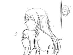 "⇻ ♡ ⇺ — Ezarel being ""affectionate"" and Valkyon as stalker..."