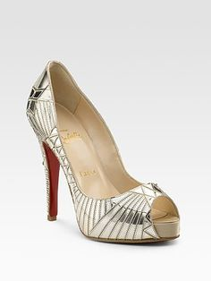 Christian Louboutin - Very Galaxy platform shoes - Gold - Art Deco style