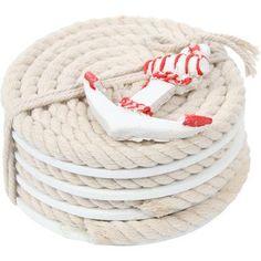 Breakwater Bay Pelican Bay Nautical Rope Coaster Color: Red