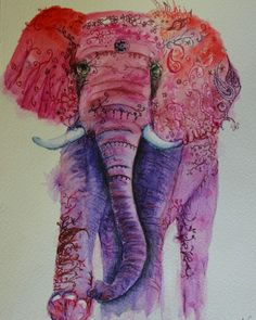 Ink african animals - Nelliephant by #joannacookeart.com #SouthAfrican Animal Illustrations