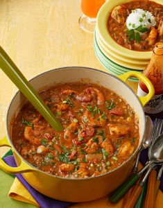 Whether it's Mardi Gras, or not, the Big Easy is perfect inspiration for this Shrimp Étouffée. You'll have no trouble feeding a crowd with this big pot of the New Orleans classic. Louisiana Recipes, Cajun Recipes, Seafood Recipes, Cajun Food, Seafood Dishes, Southern Recipes, Cajun Dishes, Haitian Recipes, Cajun Cooking