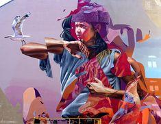 Graffiti Murals, Street Art Graffiti, Mural Art, Smoke Drawing, Art Folder, Best Street Art, Airbrush Art, Art Graphique, Portrait Art