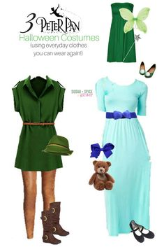 How to make an adult peter pan costume pinterest peter pan disney halloween costumes from everyday clothes group costumescouple costumesdiy solutioingenieria Images