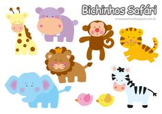 DIY Felt Safari Animals - FREE Sewing Patterns / Templates