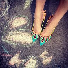 manoloblahnikhq: Chalk this one up to love Manolo Blahnik Hangisi, Shoe Art, Turquoise Necklace, Legs, Accessories, Women, Style, Fashion Shoes, Top