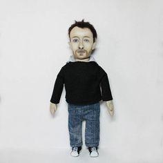 Thom Yorke Radiohead doll Portrait doll personalized doll