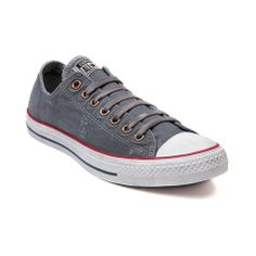 Shop for Converse All Star Lo Destroyed Sneaker in Gray at Journeys Shoes. Shop today for the hottest brands in mens shoes and womens shoes at Journeys.com.Chucks are at their best when they look roughed up and worn-in, Cut to the chase with the stylish All Star Lo Destroyed sneaker from Converse. Classic low top featuring a worn-look canvas upper, aged-style lace closure with bronze eyelets, and durable rubber Converse sole. Available only online at Journeys.com and SHIbyJourneys.com!
