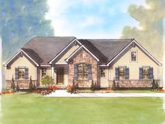 Schumacher Homes America's largest custom home builder Love the stone!