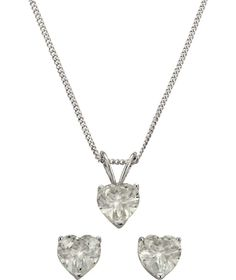 Buy Sterling Silver Cubic Zirconia Heart Pendant and Earrings at Argos.co.uk - Your Online Shop for Ladies' jewellery sets.