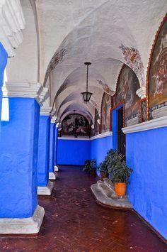 Blue Corridor - Arequipa Peru. http://www.southamericaperutours.com/peru-highlight.html