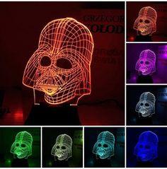 3 D Illusion Bulbing Night Led Light Lamp Desk Decor Star War Darth