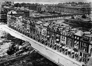 A circa 1884 view of the houses from the roof of the much-better-known Dakota, which Clark also built. In the 1920s, several of the houses were lost to an apartment building. The Dakota's Cousins and How They Grew - NYTimes.com