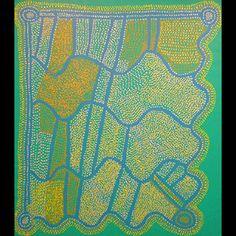 Shorty Jangala Robertson / Ngapa Jukurrpa - Water Dreaming  123 x170  2005