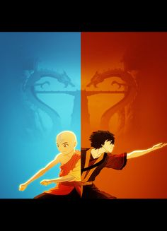 Aang and Zuko Together as One