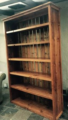 Ana white build a willy bookcase in four sizes free and easy diy rustic kentwood bookshelf do it yourself home projects from ana white solutioingenieria Images