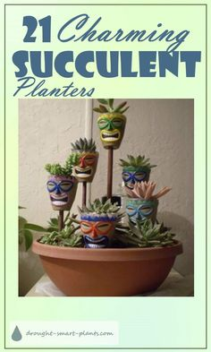 21 Charming Succulent Planters part three... Gardening | Succulents
