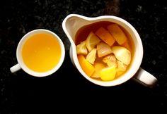 té jengibre, cúrcuma, miel y limón