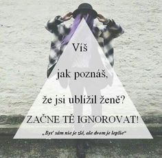 "Začala som ,,ho"" ignorovať ale on si to nejako neuvedomil 😓 Love Hurts, Sad Love, Secret Love, Sad Girl, Sad Quotes, Quotations, Thats Not My, Mood, Motivation"