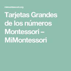Tarjetas Grandes de los números Montessori – MiMontessori