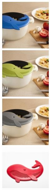 You loved the Nessie Loch Ness Ladle we posted last week. Here's another cute kitchen utencil: the Plankton Pot Strainer, $18.99. Both are from Anima Causa.