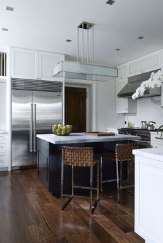A beautiful Upper East Side kitchen with marble countertops