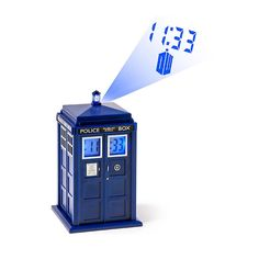 Doctor Who TARDIS Projection Alarm Clock from ThinkGeek. Saved to Doctor Who. Shop more products from ThinkGeek on Wanelo. Doctor Who Tardis, The Tardis, Tardis Blue, Dr Who Merchandise, Doctor Who Bedroom, Projection Alarm Clock, Digital Projection, Matt Smith, Cool Gadgets