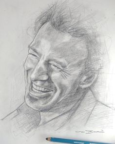 For the day that's in it. Quick pencil sketch of Bruce Springsteen. Looking forward to the Croke Park show tonight! #brucespringsteen #theboss #springsteen #bruce #estreetband #bornintheusa #borntorun #theriver #rock #music #boss #classicrock #dancinginthedark #rockmusic #therivertour #crokepark by markbakerart