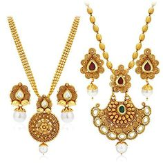 2d01bb11c8 Get 1 Gram Golden Jewelry set Online in USA with Express shipping – Dista  Cart Fashion