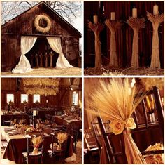 Such a great Rustic theme...especially love the wheat with the roses where it is gathered.