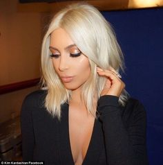 In the works: In March, the game's Facebook page shared a photo of Kim with the platinum blonde hair she sports in the commercial, with the caption, 'New ‪#‎KimKardashianGame‬ TV Commercial ‪#‎ComingSoon‬'