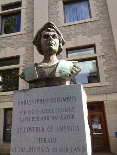 Christopher Columbus Statue, Courthouse Lawn courtesy of Ramblin' with AM