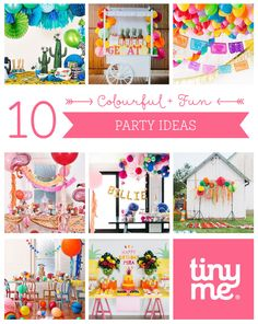10 Colourful and Fun Party Ideas ~ Tinyme