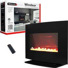 ProLectrix Windsor Wall or Free Standing Electric Fireplace