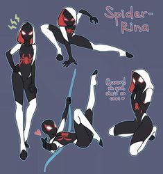 When the spider verse is opened up again and more spiders from way di… # Macera # amreading # books # wattpad Spider Art, Spider Gwen, Spider Verse, Spiderman Girl, Spiderman Drawing, Spiderman Poses, Chica Gato Neko Anime, Manga, Marvel Fan Art