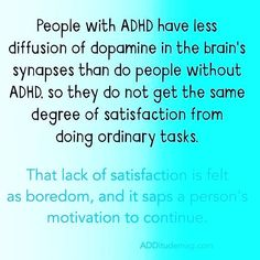 About ADHD: how dopamine works in an #ADHD brain.